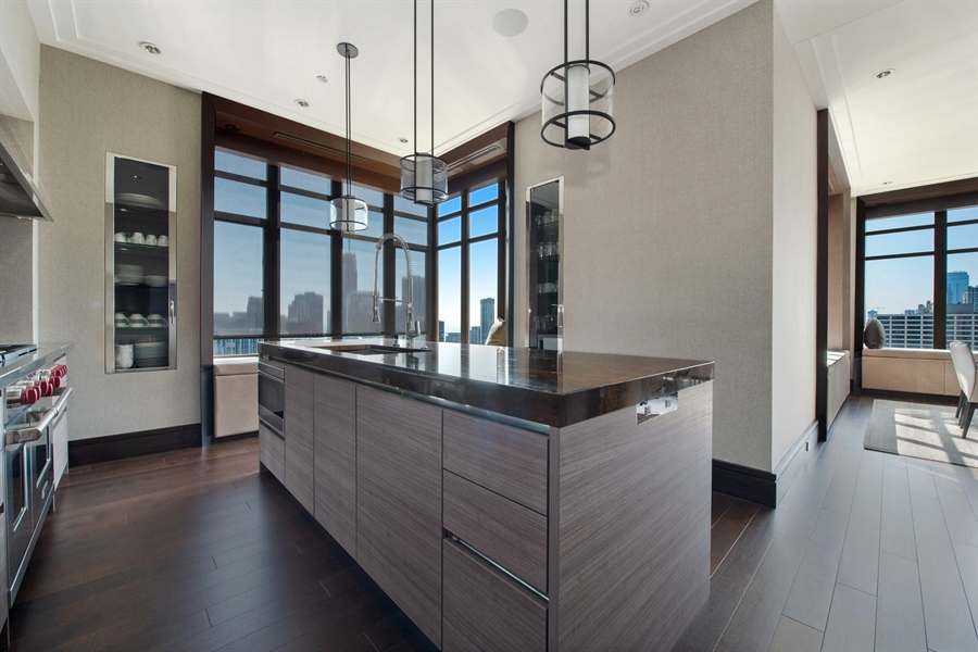 Real Estate Photography - 118 E Erie, unit 38 L, Chicago, IL, 60611 - Kitchen