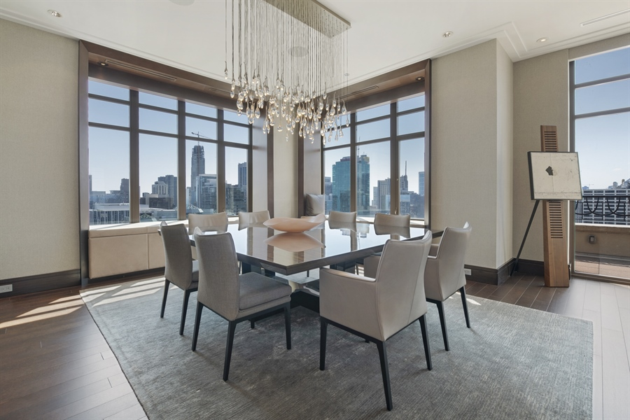 Real Estate Photography - 118 E Erie, unit 38 L, Chicago, IL, 60611 - Dining Room