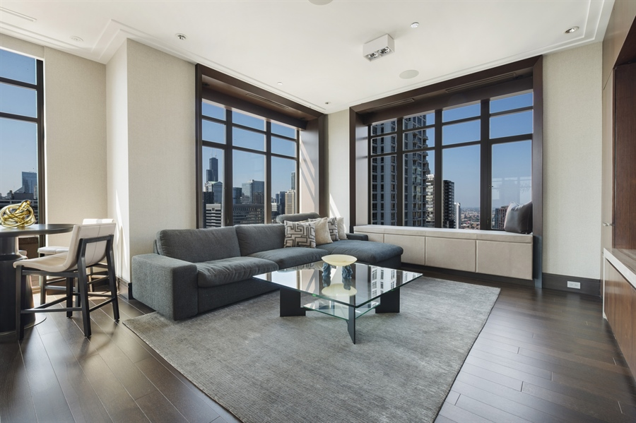 Real Estate Photography - 118 E Erie, unit 38 L, Chicago, IL, 60611 - Family Room