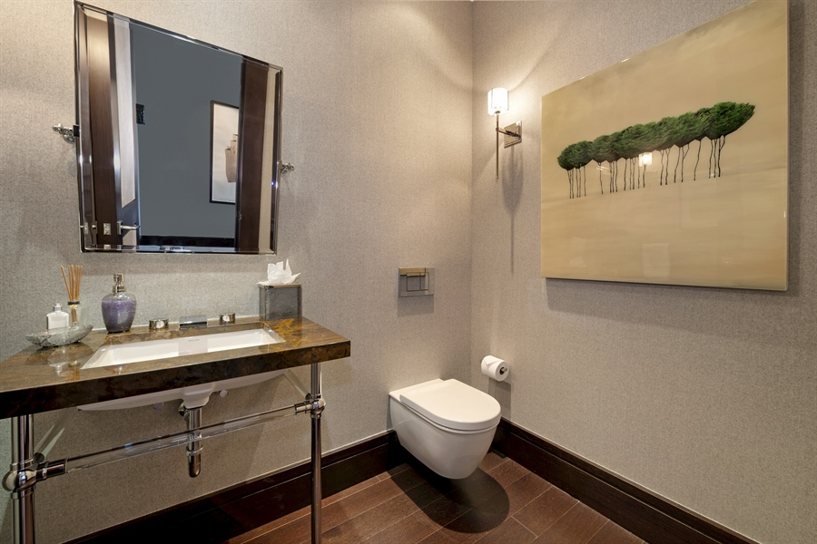 Real Estate Photography - 118 E Erie, unit 38 L, Chicago, IL, 60611 - Half Bath