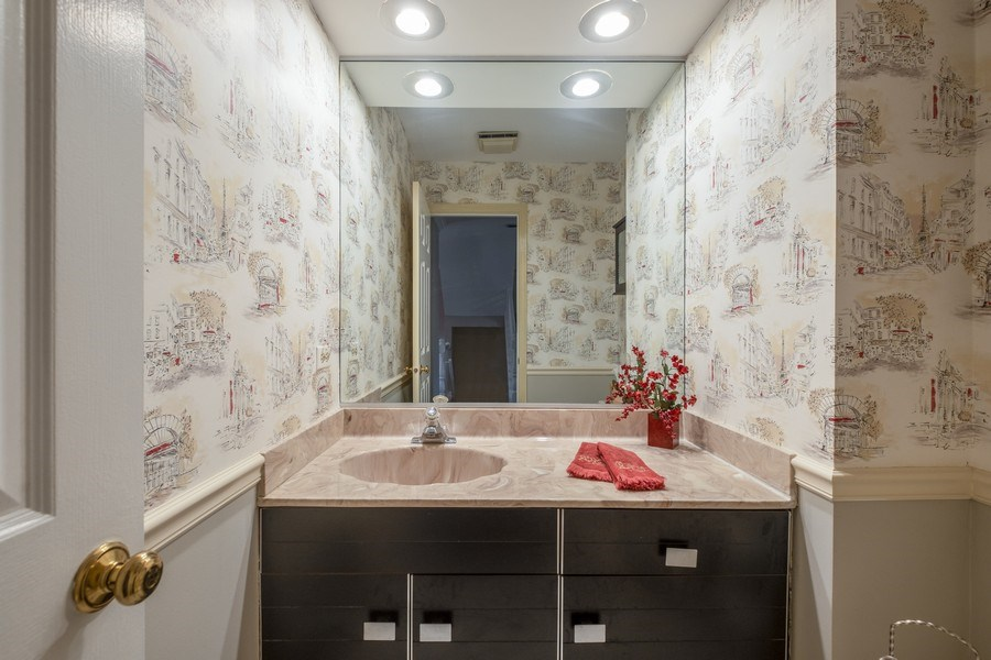 Real Estate Photography - 9025 Lincolnwood, Evanston, IL, 60203 - Powder Room