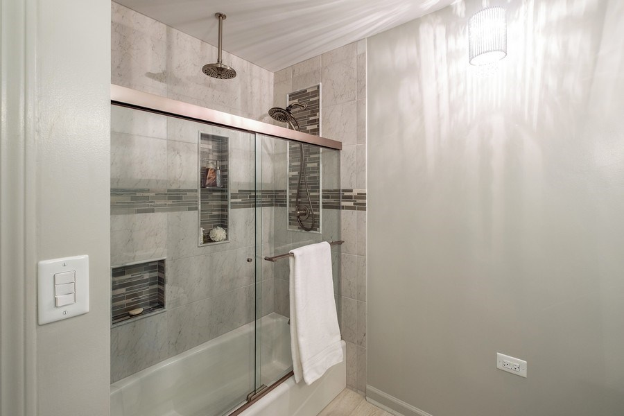 Real Estate Photography - 9025 Lincolnwood, Evanston, IL, 60203 - 2nd Bathroom