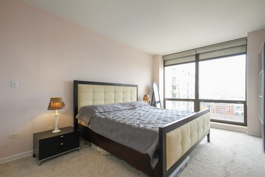 Real Estate Photography - 1212 N Wells, Unit 1405, Chicago, IL, 60610 - Master Bedroom