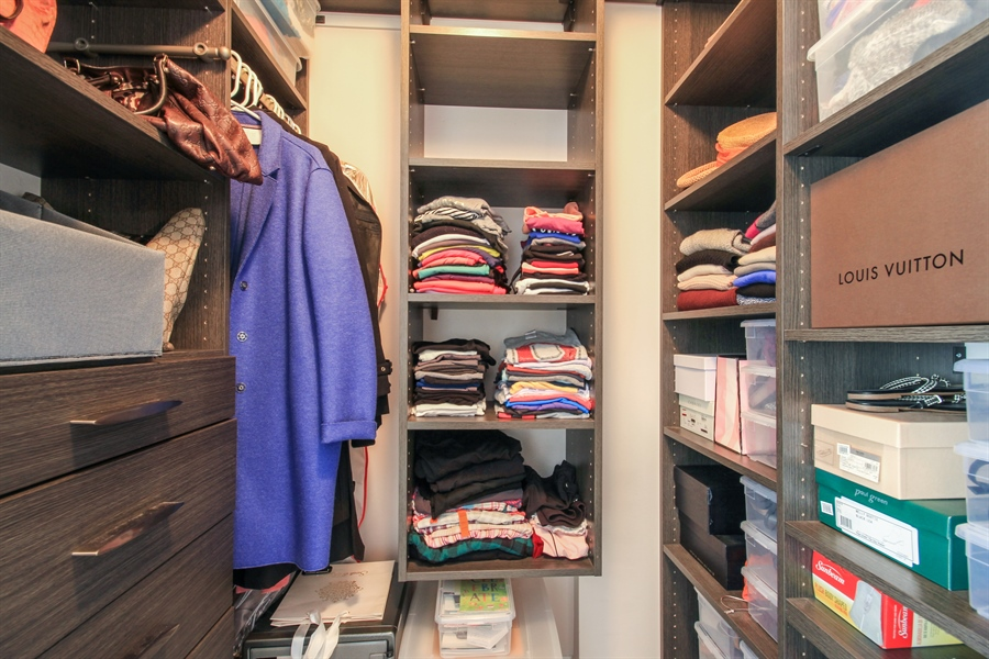 Real Estate Photography - 1212 N Wells, Unit 1405, Chicago, IL, 60610 - Master Bedroom Closet