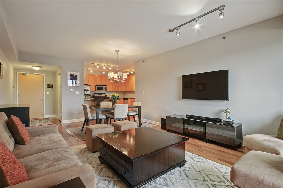 Real Estate Photography - 1212 N Wells, Unit 1405, Chicago, IL, 60610 - Living Room / Dining Room