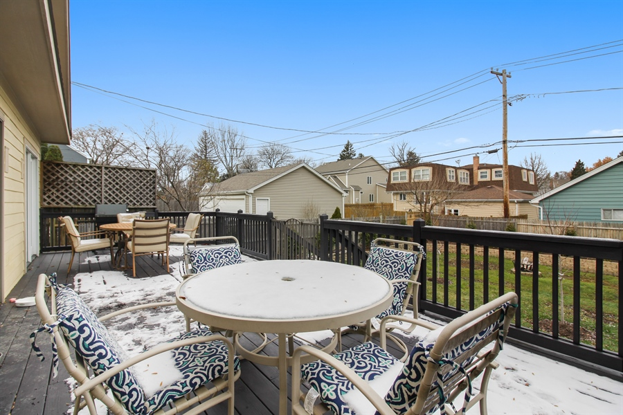 Real Estate Photography - 426 Gierz, Downers Grove, IL, 60515 - Deck