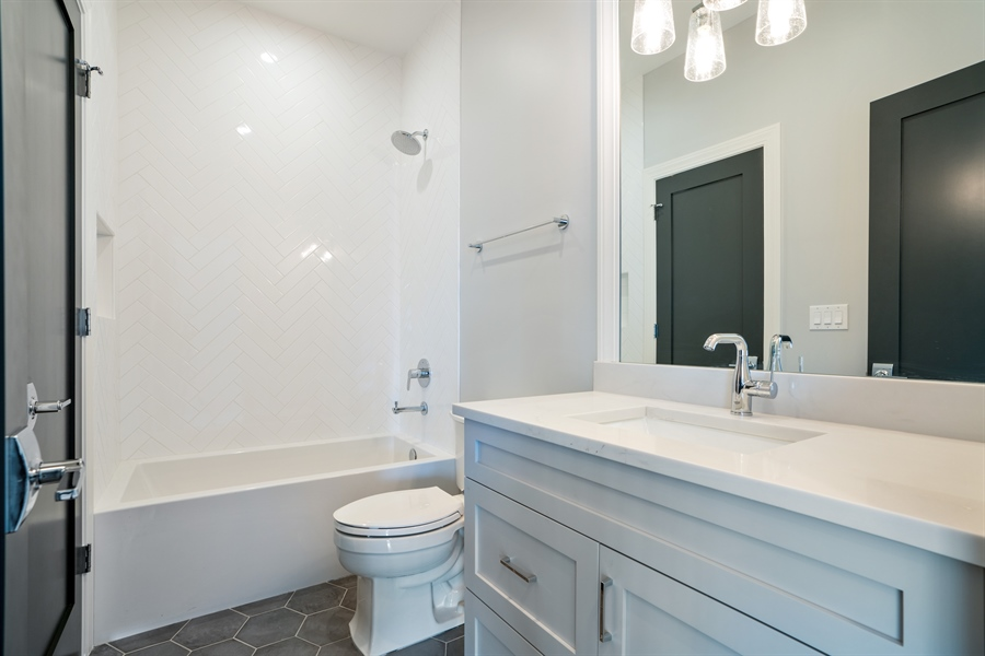 Real Estate Photography - 1630 Warren, Unit 2, Chicago, IL, 60612 - 3rd Bathroom