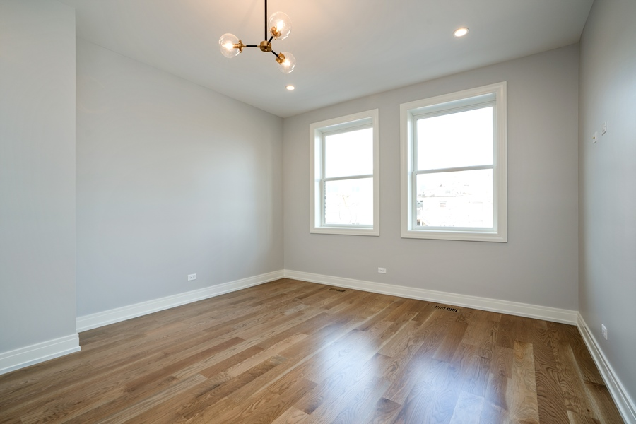 Real Estate Photography - 1630 Warren, Unit 2, Chicago, IL, 60612 - Master Bedroom