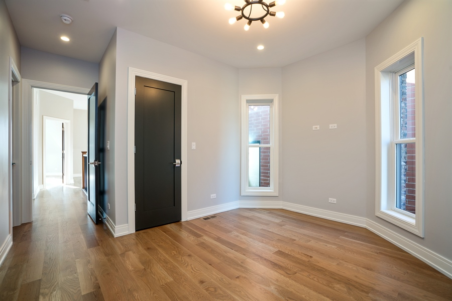 Real Estate Photography - 1630 Warren, Unit 2, Chicago, IL, 60612 - 3rd Bedroom