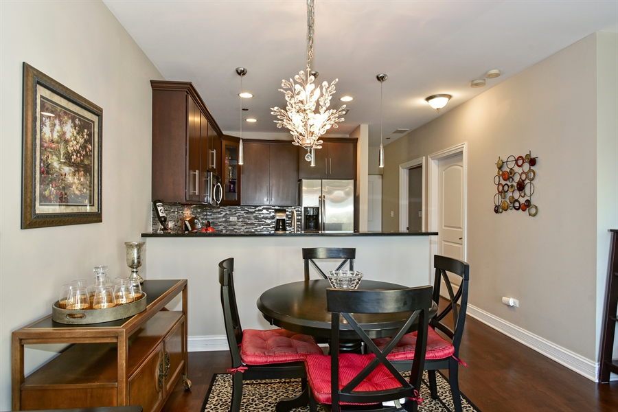 Real Estate Photography - 4950 N Western, Unit 2D, Chicago, IL, 60625 - Dining Room