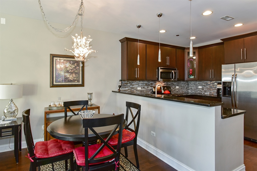 Real Estate Photography - 4950 N Western, Unit 2D, Chicago, IL, 60625 - Kitchen / Dining Room