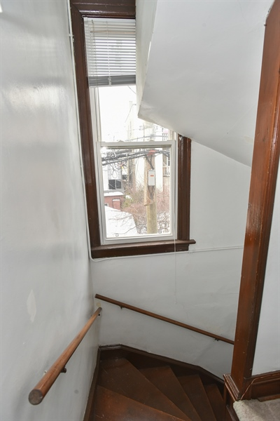 Real Estate Photography - 1943 W Belle Plaine, Chicago, IL, 60613 - Front Stairwell