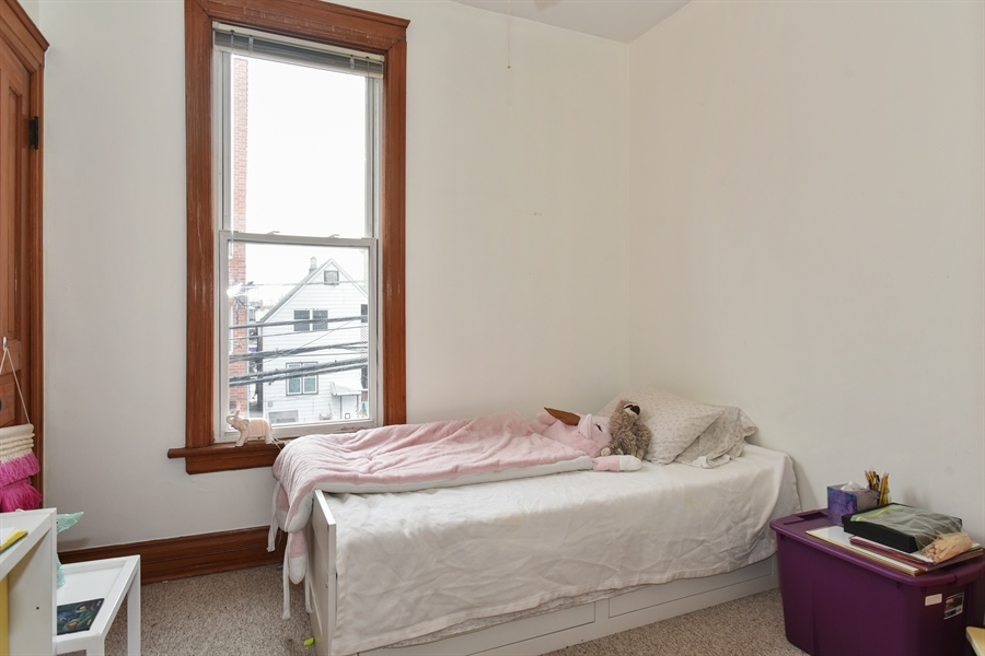 Real Estate Photography - 1943 W Belle Plaine, Chicago, IL, 60613 - 2nd floor bedroom