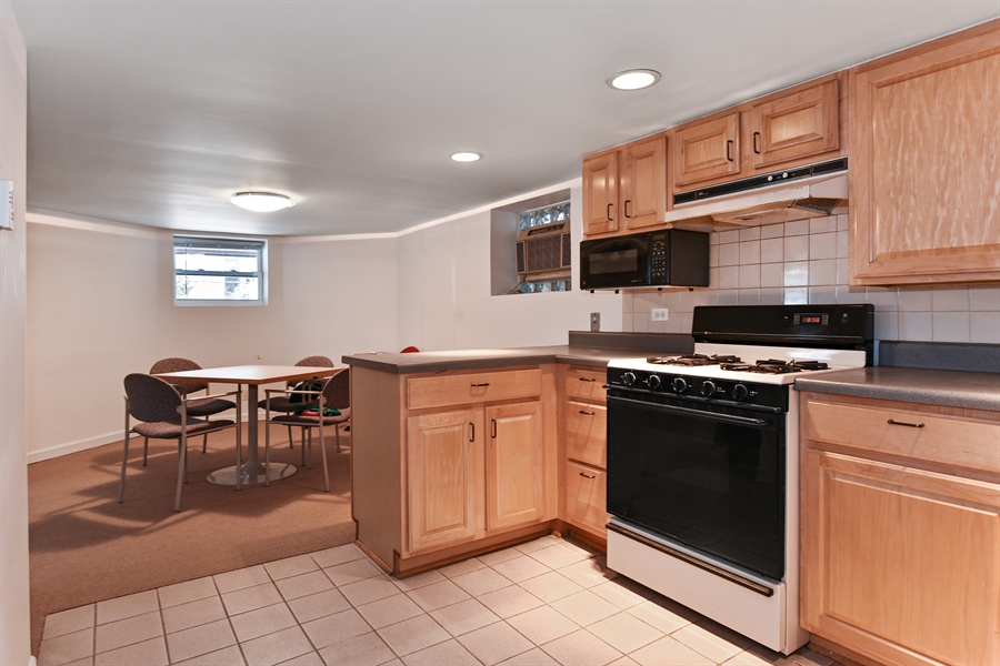 Real Estate Photography - 1943 W Belle Plaine, Chicago, IL, 60613 - Kitchen / Dining Room