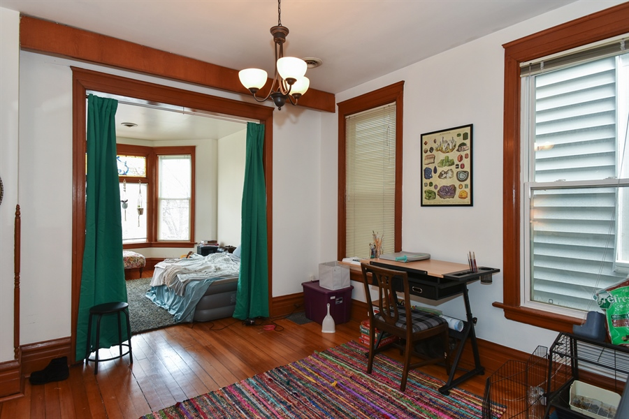 Real Estate Photography - 1943 W Belle Plaine, Chicago, IL, 60613 - Living Room/Dining Room
