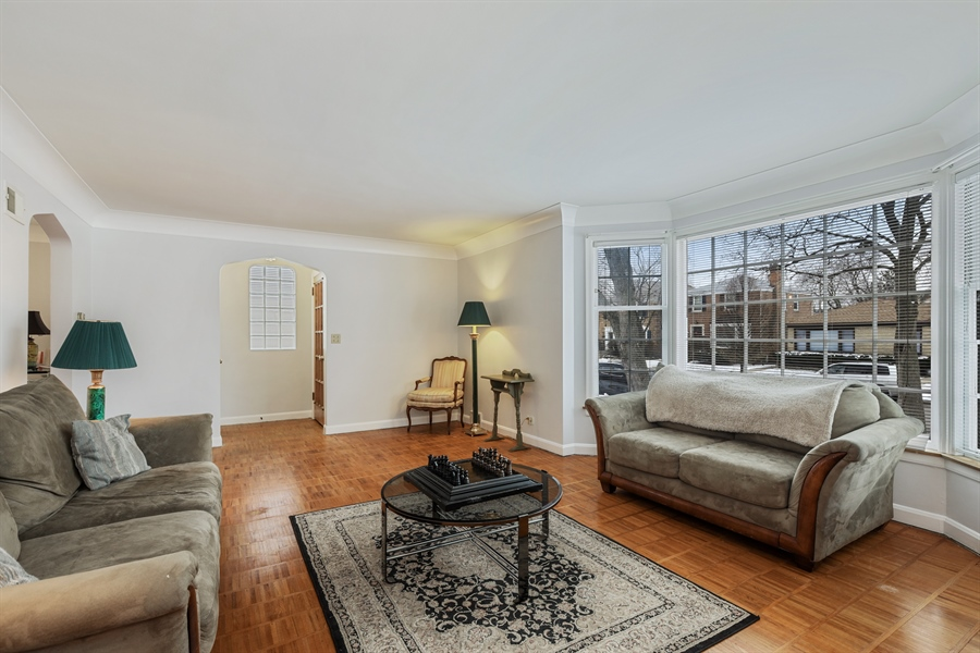 Real Estate Photography - 6153 N Kedvale, Chicago, IL, 60646 - Living Room