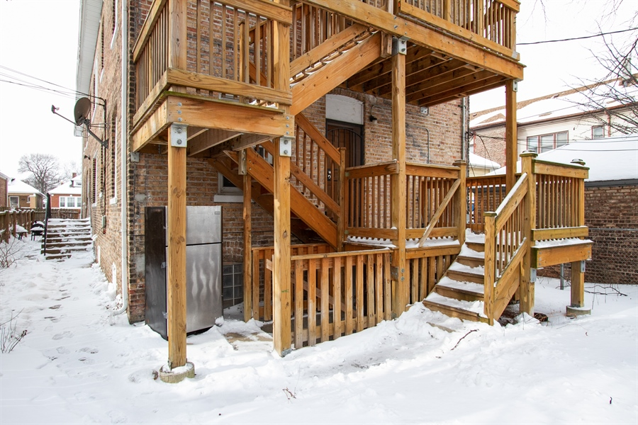 Real Estate Photography - 8637 S Saginaw Ave, Chicago, IL, 60617 - Rear View