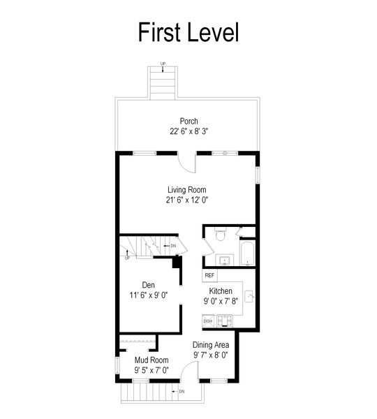 Real Estate Photography - 3511 N Normandy, Chicago, IL, 60634 - Floor Plan