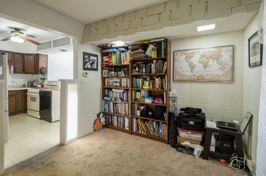 Real Estate Photography - 3511 N Normandy, Chicago, IL, 60634 - Den