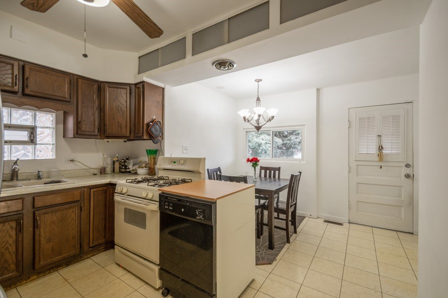 Real Estate Photography - 3511 N Normandy, Chicago, IL, 60634 - Kitchen / Dining Room