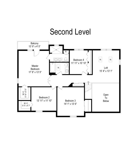 Real Estate Photography - 922 Krista Ct, Palatine, IL, 60074 - Second Level Floor Plan