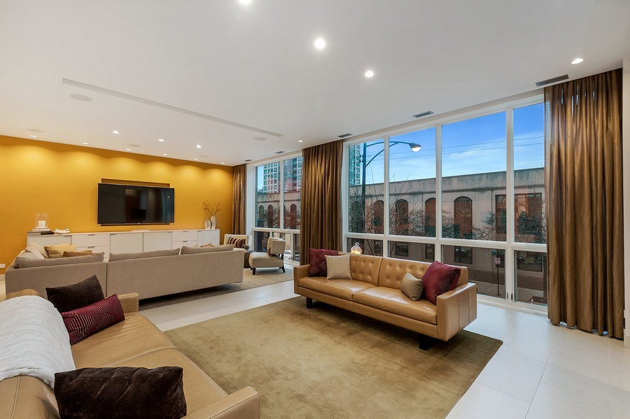 Real Estate Photography - 415 W Superior, Unit 200, Chicago, IL, 60654 - Living Room