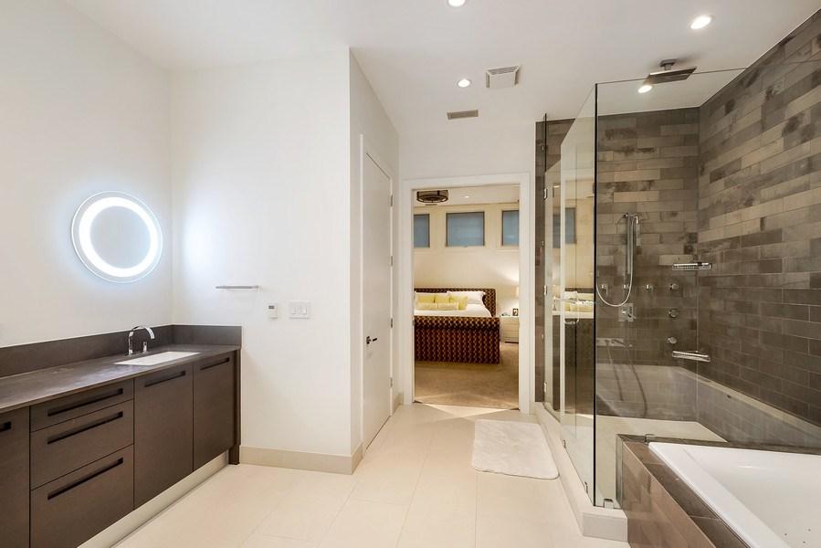 Real Estate Photography - 415 W Superior, Unit 200, Chicago, IL, 60654 - Master Bathroom