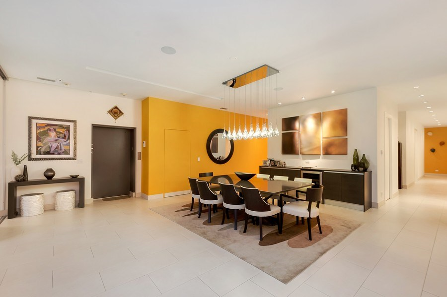 Real Estate Photography - 415 W Superior, Unit 200, Chicago, IL, 60654 - Dining Room