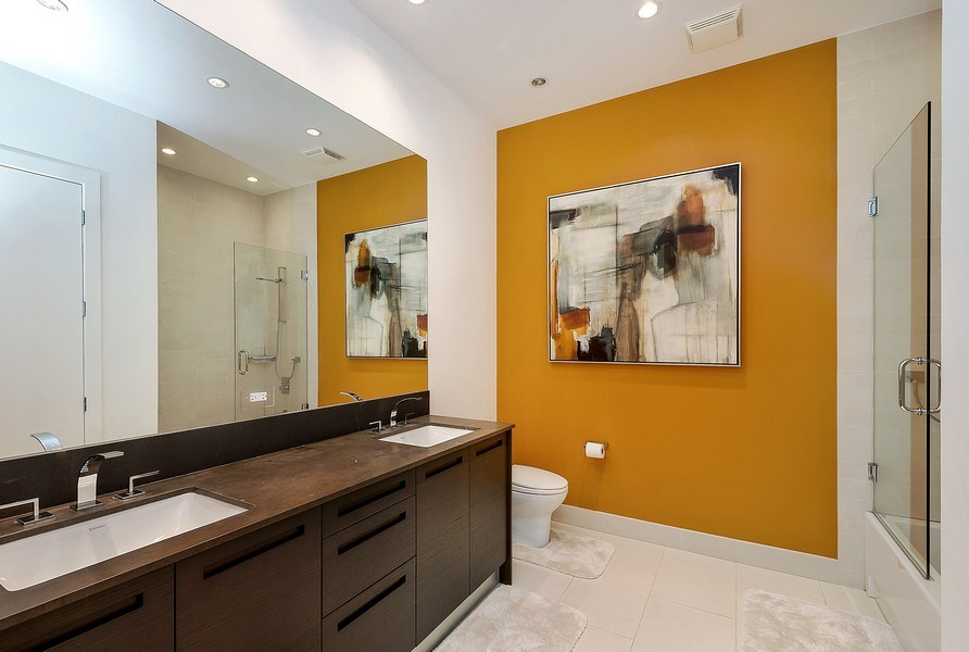 Real Estate Photography - 415 W Superior, Unit 200, Chicago, IL, 60654 - 2nd Bathroom