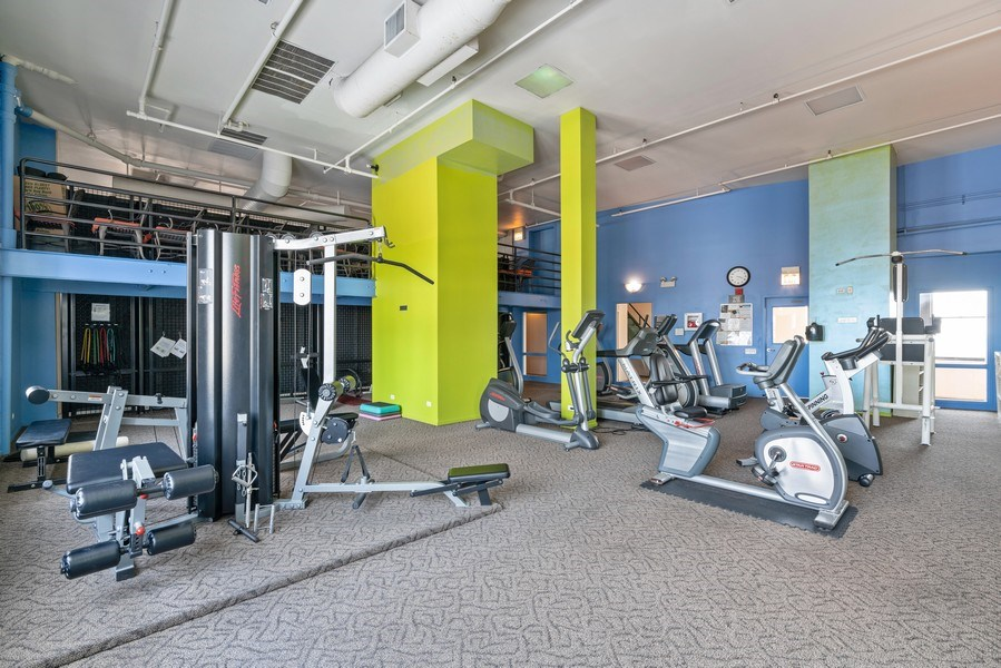 Real Estate Photography - 728 W Jackson, Unit 221, Chicago, IL, 60661 - Gym
