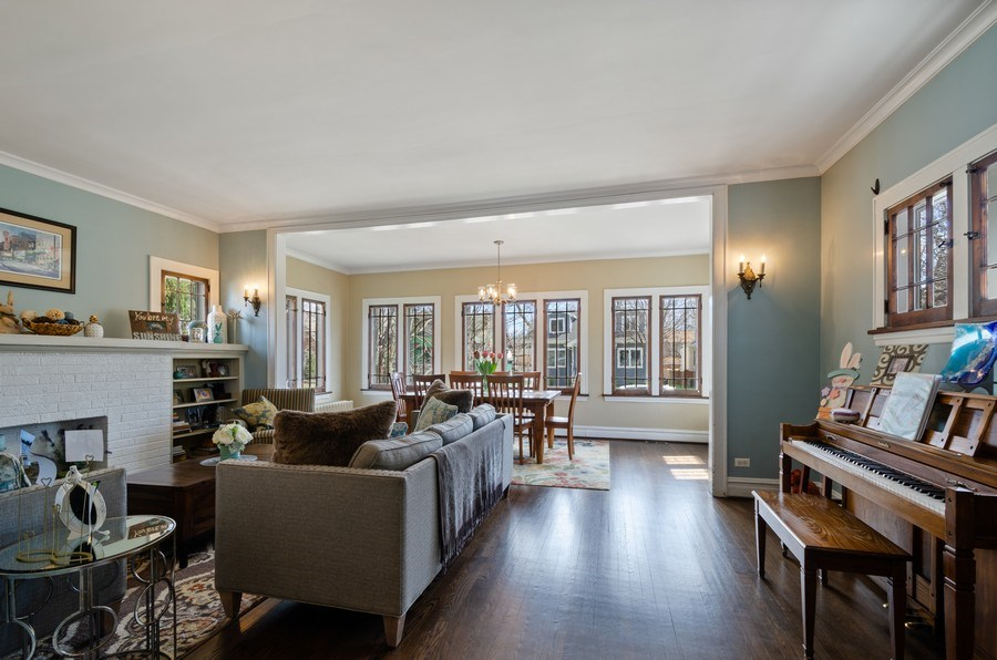 Real Estate Photography - 6942 N Oriole, Chicago, IL, 60631 - Living Room / Dining Room