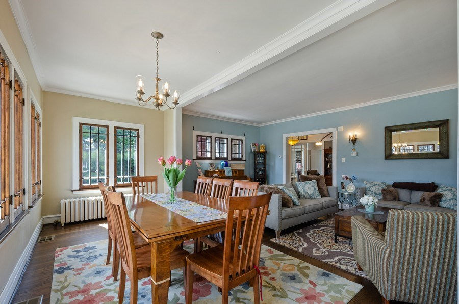 Real Estate Photography - 6942 N Oriole, Chicago, IL, 60631 - Living Room/Dining Room