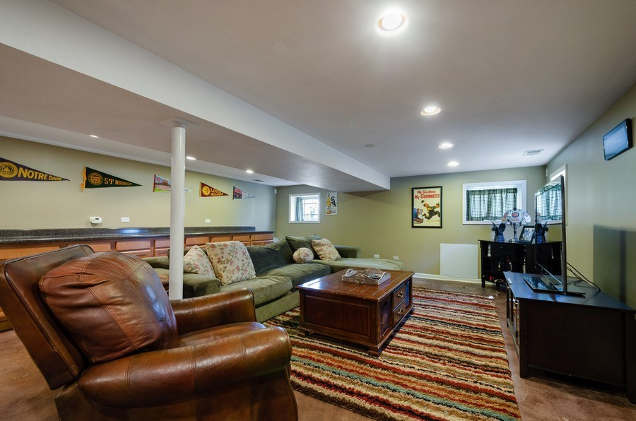 Real Estate Photography - 6942 N Oriole, Chicago, IL, 60631 - Play / Recreational Room