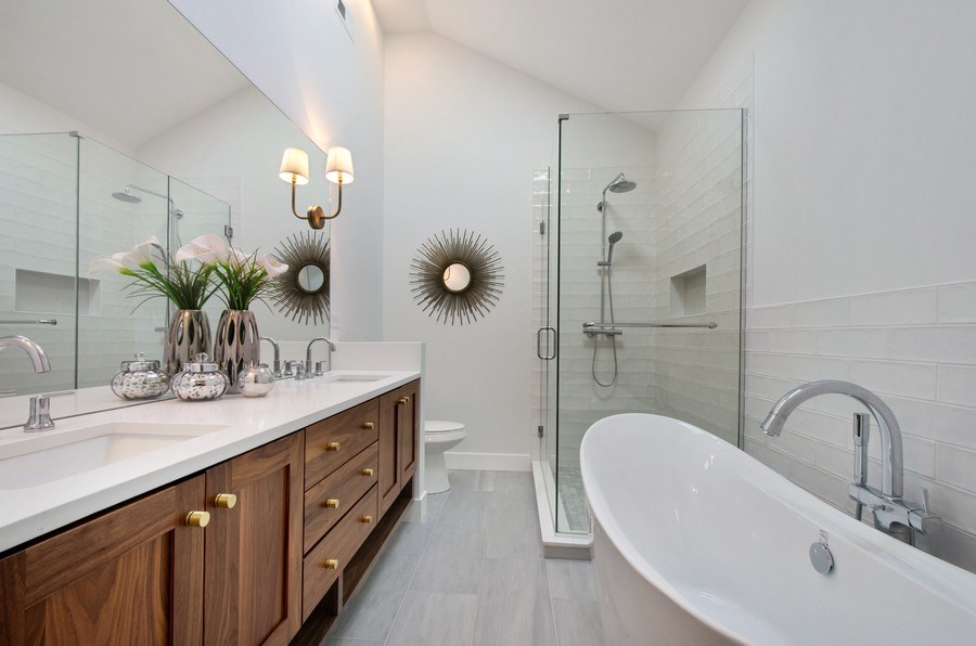 Real Estate Photography - 5615 N Kostner, Chicago, IL, 60646 - Master Bathroom