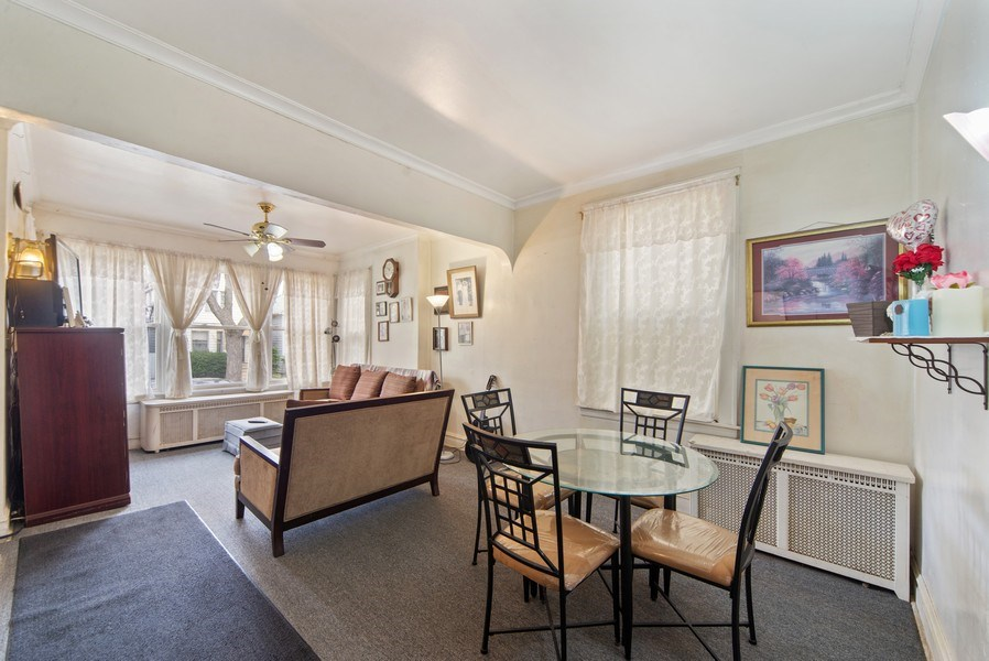 Real Estate Photography - 1831 W Berwyn, Chicago, IL, 60640 - Living Room / Dining Room