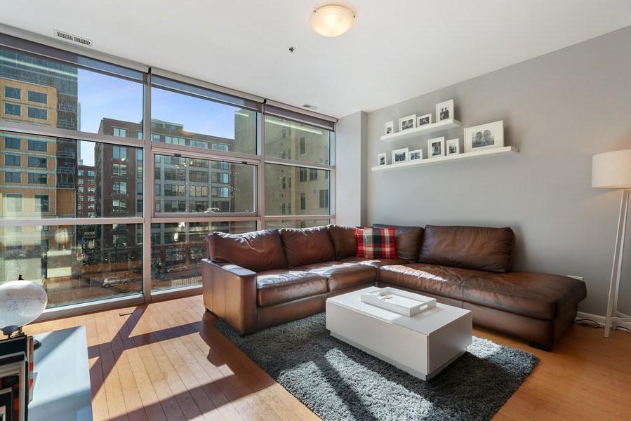 Real Estate Photography - 225 S Sangamon, Unit 402, Chicago, IL, 60607 - Living Room