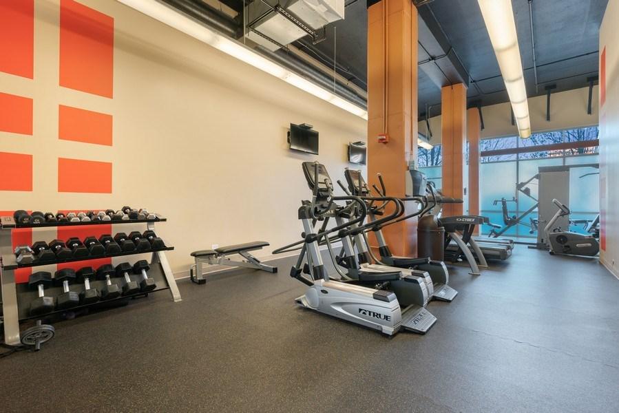 Real Estate Photography - 225 S Sangamon, Unit 402, Chicago, IL, 60607 - Gym