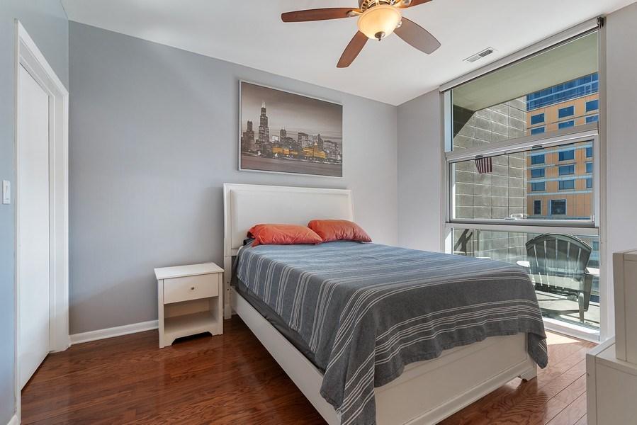 Real Estate Photography - 225 S Sangamon, Unit 402, Chicago, IL, 60607 - Bedroom