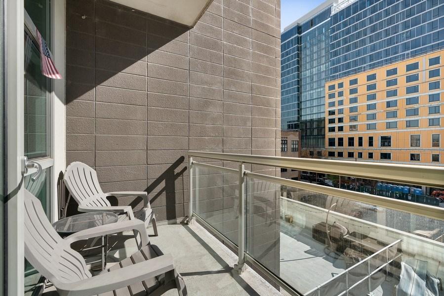 Real Estate Photography - 225 S Sangamon, Unit 402, Chicago, IL, 60607 - Balcony