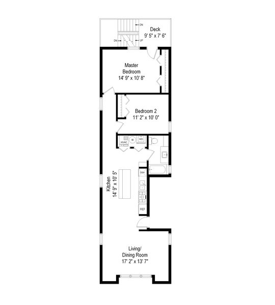 Real Estate Photography - 1217 N Honore, Chicago, IL, 60622 - Floor Plan