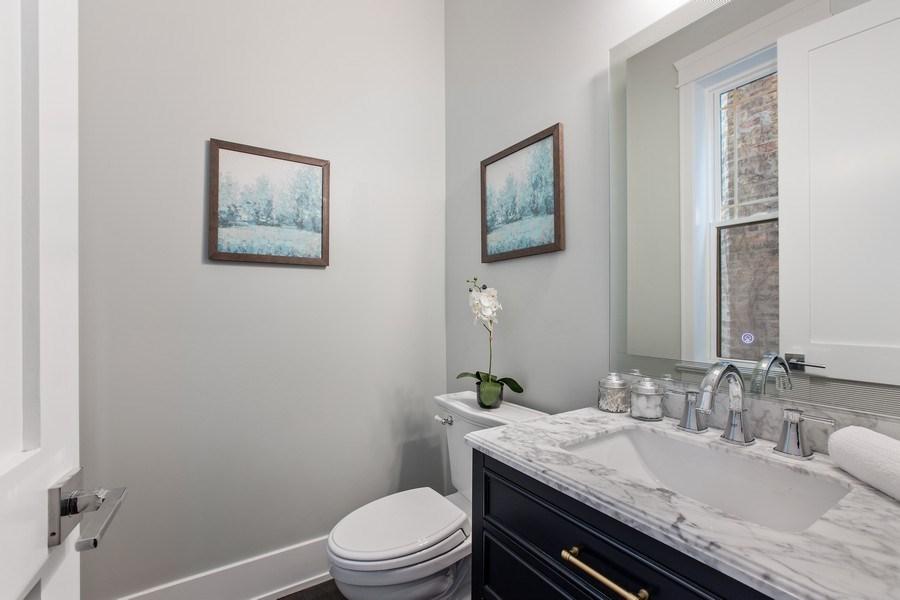 Real Estate Photography - 1700 W Thorndale, Chicago, IL, 60640 - Half Bath