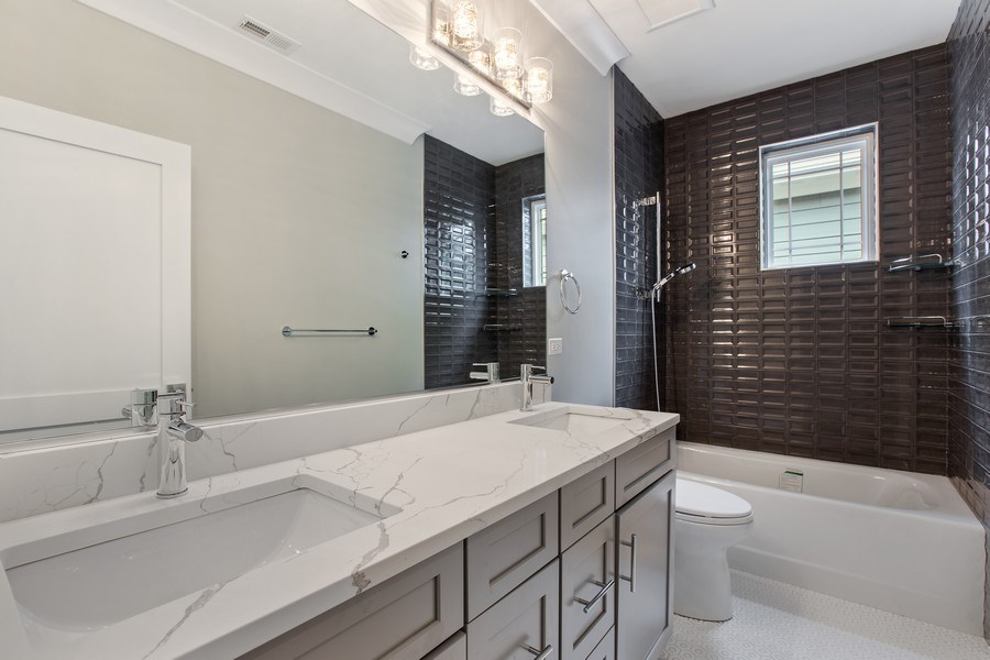 Real Estate Photography - 1700 W Thorndale, Chicago, IL, 60640 - Bathroom