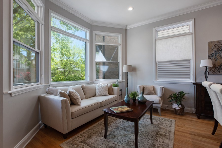 Real Estate Photography - 3034 N Leavitt St, Chicago, IL, 60618 - Living Room