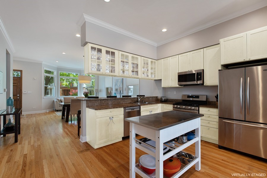 Real Estate Photography - 3034 N Leavitt St, Chicago, IL, 60618 - Kitchen