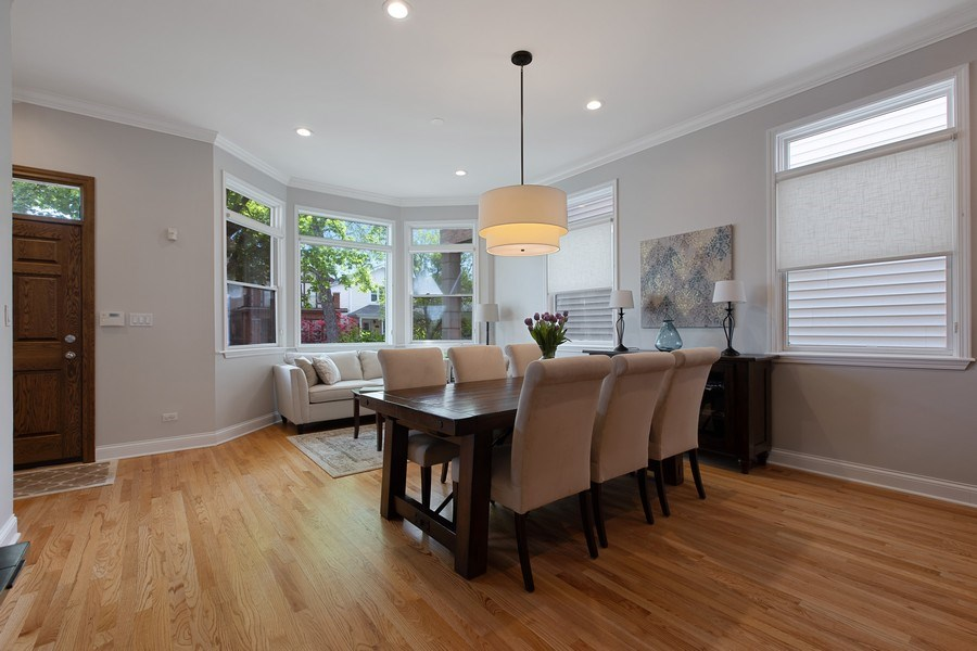 Real Estate Photography - 3034 N Leavitt St, Chicago, IL, 60618 - Dining Room