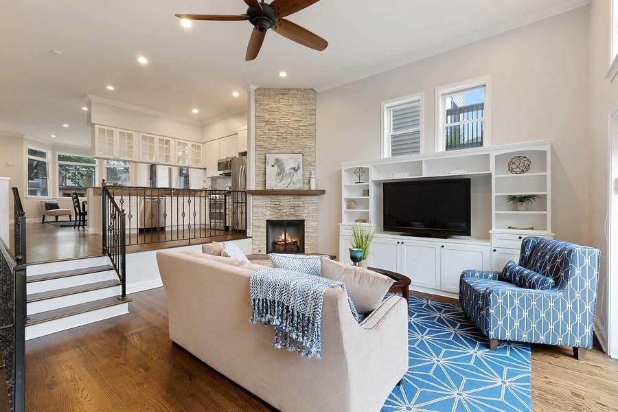 Real Estate Photography - 3034 N Leavitt St, Chicago, IL, 60618 - Family Room