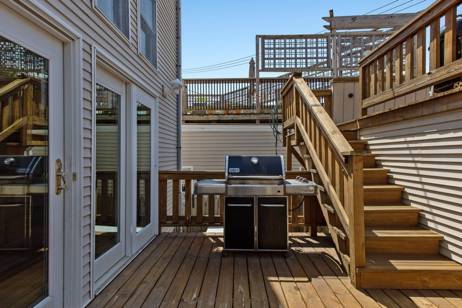 Real Estate Photography - 3034 N Leavitt St, Chicago, IL, 60618 - Deck