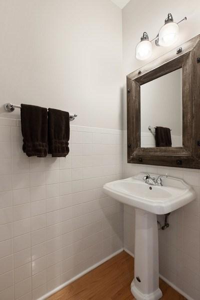 Real Estate Photography - 3034 N Leavitt St, Chicago, IL, 60618 - Half Bath