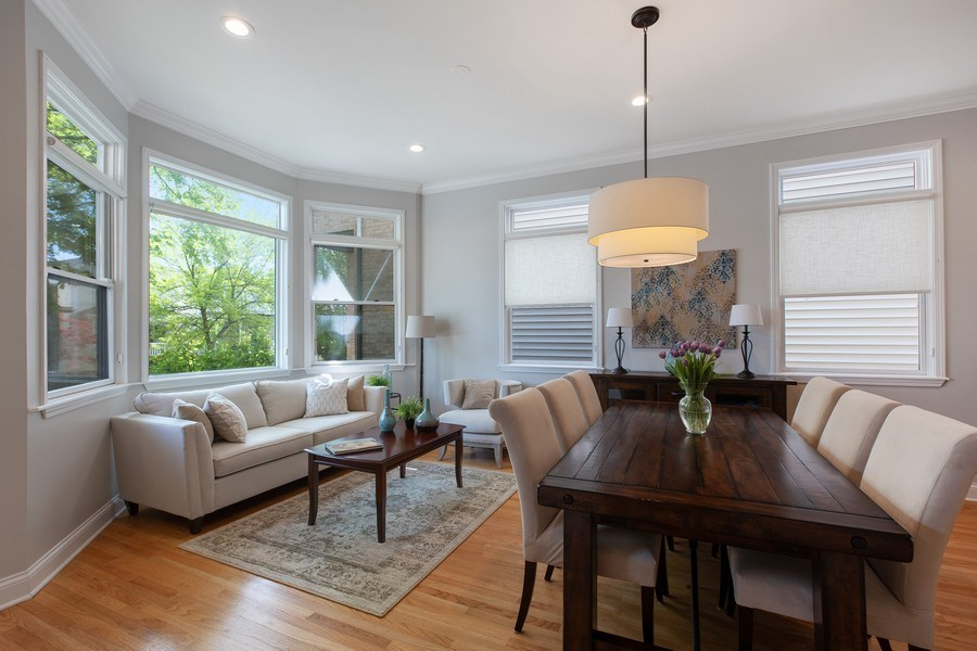 Real Estate Photography - 3034 N Leavitt St, Chicago, IL, 60618 - Living Room / Dining Room