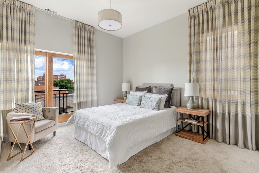 Real Estate Photography - 1708 W North Ave, C4, Chicago, IL, 60614 - Master Bedroom